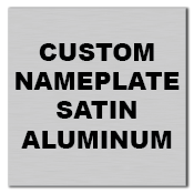 "1"" x 1"" Square Corner Square Custom Printed Name Plate Aluminum Stickers"