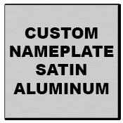 "1"" x 1"" Square Corner Square Custom Printed Name Plate Aluminum Stickers"