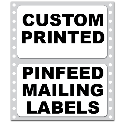 """4"""" x 2.4375"""" Round Corner Rectangle Custom Pinfeed Mailing Labels"""