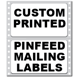 """4"""" x 2.9375"""" Round Corner Rectangle Custom Pinfeed Mailing Labels"""