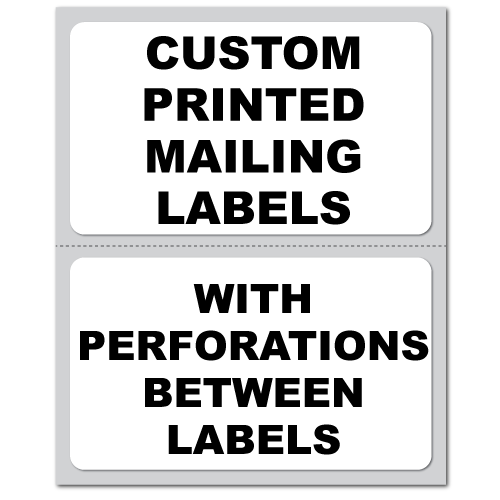 """5"""" x 3"""" Round Corner Rectangle Custom Pinfeed Mailing Labels"""