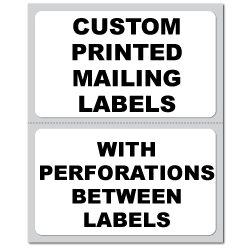 "4.25"" x 3.375"" Round Corner Rectangle Custom Pinfeed Mailing Labels"