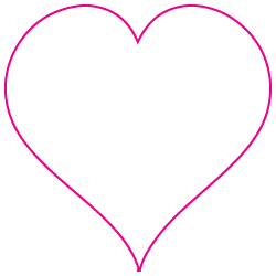 "1"" x 1"" Heart Shape Custom Printed Foil Stickers"