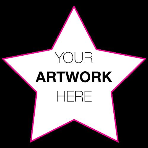 "2.375"" x 2.5"" Star Shape Custom Printed Stickers"