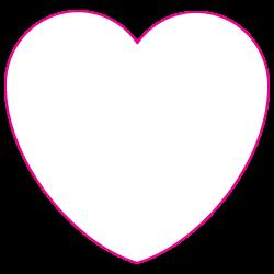 "2.875"" x 2.75"" Heart Shape Custom Printed Foil Stickers"