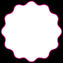 "1.75"" Scalloped Circle Shape Custom Printed Foil Stickers"