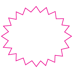 "1"" x 1.25"" Starburst Custom Printed Foil Stickers"