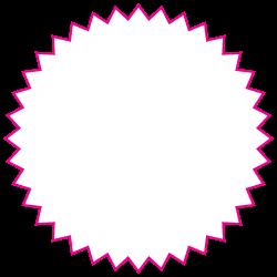 4 Inch Burst Circle Custom Printed Stickers