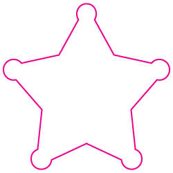 "2.75"" x 2.75"" Sheriff Star Shape Custom Printed Foil Stickers"