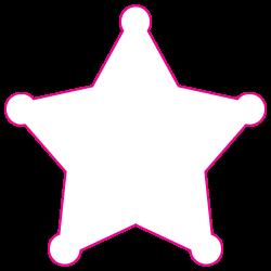 "2.75"" x 2.75"" Sheriff Star Shape Custom Printed Foil Stickers"