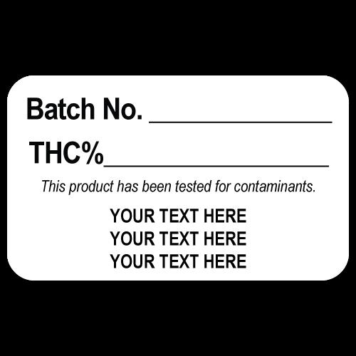 THC Batch Number Sample