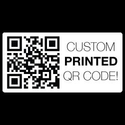 "1.25"" x 2"" Round Corners Rectangle Custom Printed QR Stickers"