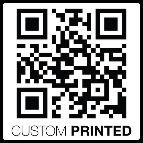 "1"" x 1"" Round Corners Square Custom Printed QR Stickers"