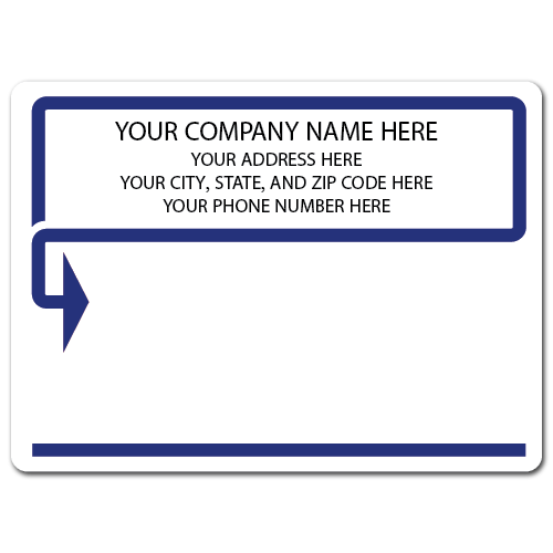 "5"" x 4"" Round Corner Rectangle Mailing Labels, Design AB"