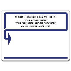 "5"" x 4"" Round Corner Rectangle Mailing Labels, Design AB"