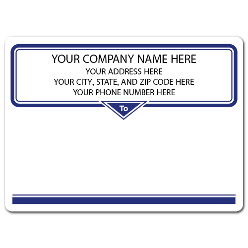 "4"" x 3"" Round Corner Rectangle Mailing Labels, Design BB"