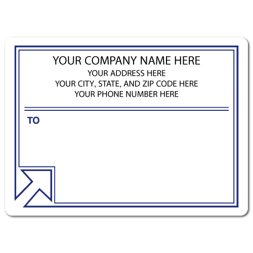 "4"" x 3"" Round Corner Rectangle Mailing Labels, Design DB"