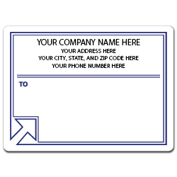 "5"" x 4"" Round Corner Rectangle Mailing Labels, Design DB"