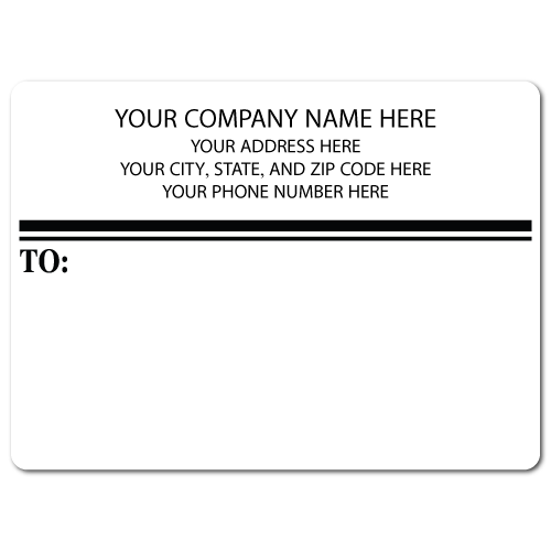 "5"" x 4"" Round Corner Rectangle Mailing Labels, Design E"