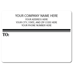 "4"" x 3"" Round Corner Rectangle Mailing Labels, Design E"