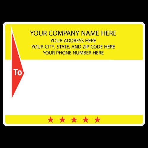 "5"" x 4"" Round Corner Rectangle Mailing Labels, Design F"