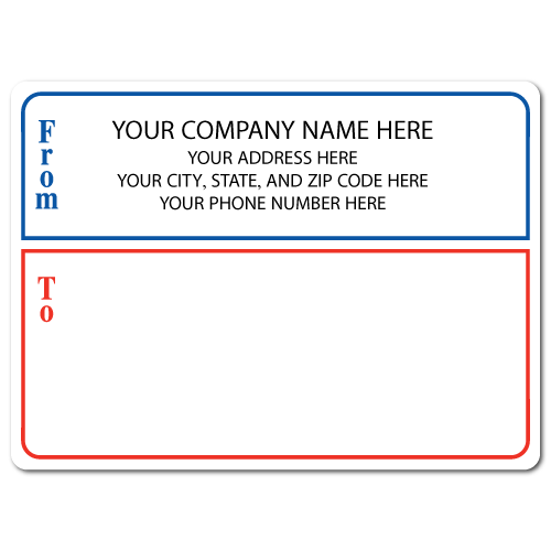 "4"" x 3"" Round Corner Rectangle Mailing Labels, Design G"