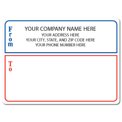 "4"" x 3"" Round Corner Rectangle Mailing Labels, Design G"