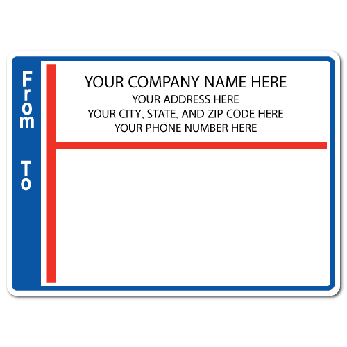 "5"" x 4"" Round Corner Rectangle Mailing Labels, Design H"