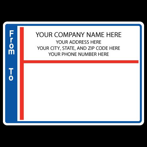 "4"" x 3"" Round Corner Rectangle Mailing Labels, Design H"