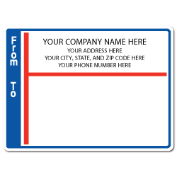 "4"" x 3"" Round Corner Rectangle Mailing Labels, Design H"
