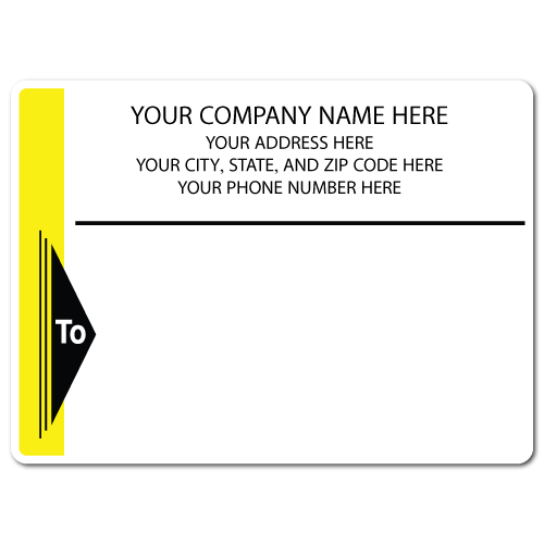 "4"" x 3"" Round Corner Rectangle Mailing Labels, Design I"