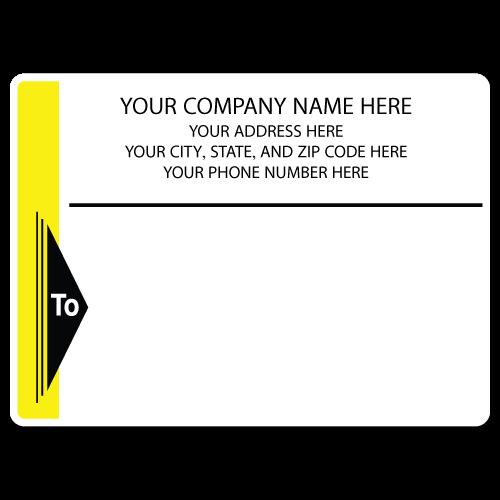 "5"" x 4"" Round Corner Rectangle Mailing Labels, Design I"