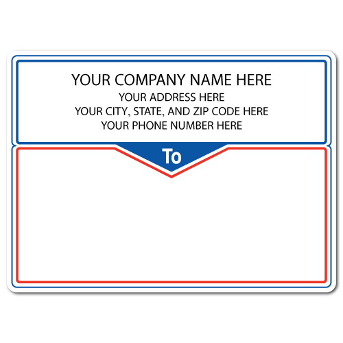 "4"" x 3"" Round Corner Rectangle Mailing Labels, Design J"