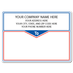 "5"" x 4"" Round Corner Rectangle Mailing Labels, Design J"