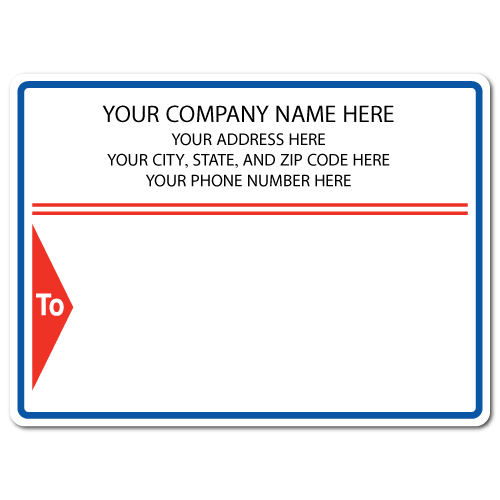 "5"" x 4"" Round Corner Rectangle Mailing Labels, Design L"