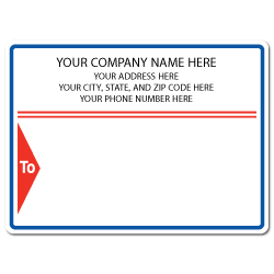 "4"" x 3"" Round Corner Rectangle Mailing Labels, Design L"