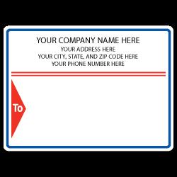 "4"" x 3"" Round Corner Rectangle Mailing Labels, Design L"