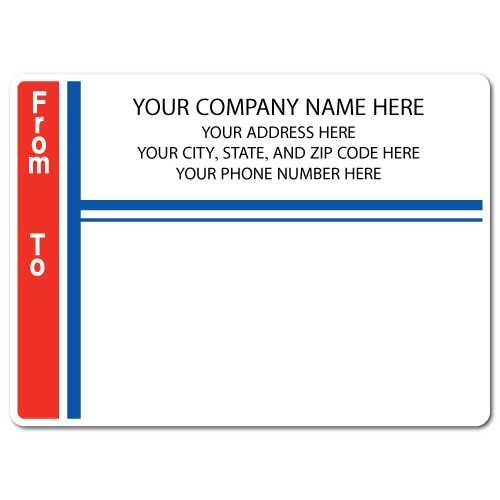 "5"" x 4"" Round Corner Rectangle Mailing Labels, Design M"