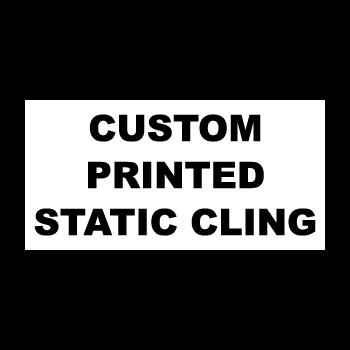 "4"" x 1"" Square Corner Rectangle Custom Printed Static Cling Stickers"