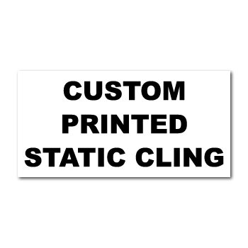 "5"" x 1"" Square Corner Rectangle Custom Printed Static Cling Stickers"
