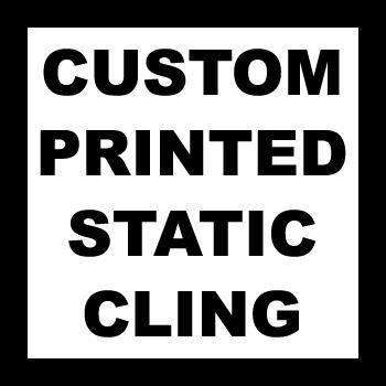 "3"" x 3"" Square Corner Square Custom Printed Static Cling Stickers"