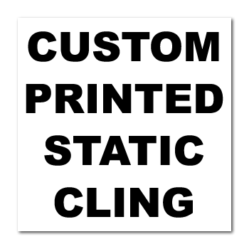 "6"" x 6"" Square Corner Square Custom Printed Static Cling Stickers"