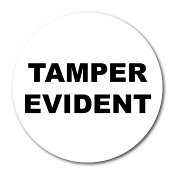 "1.5"" Circle Custom Printed Tamper Evident VOID Stickers"
