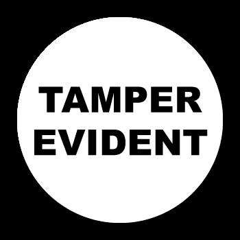 "1"" Circle Custom Printed Tamper Evident VOID Stickers"