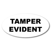 """1"""" x 2"""" Oval Custom Printed Tamper Evident VOID Stickers"""