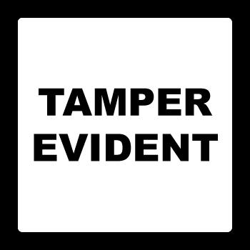"1"" x 1"" Round Corner Square Custom Printed Tamper Evident Stickers"
