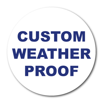 "2.5"" Diameter Circle Custom Printed Weather Proof Stickers"