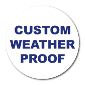 "0.75"" Diameter Circle Custom Printed Weather Proof Stickers"