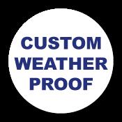 "0.75"" Diameter Circle Custom Printed Weather Proof Stickers"