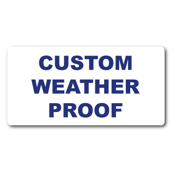 "0.75"" x 2"" Round Corners Rectangle Custom Printed Weather Proof Stickers"